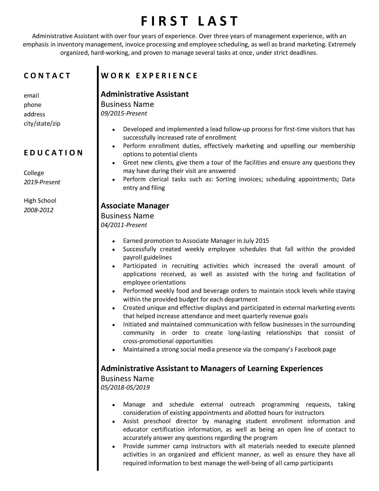 Sample Resume with Multiple Positions at Same Company Help! – Multiple Positions within Same Company and On/off …