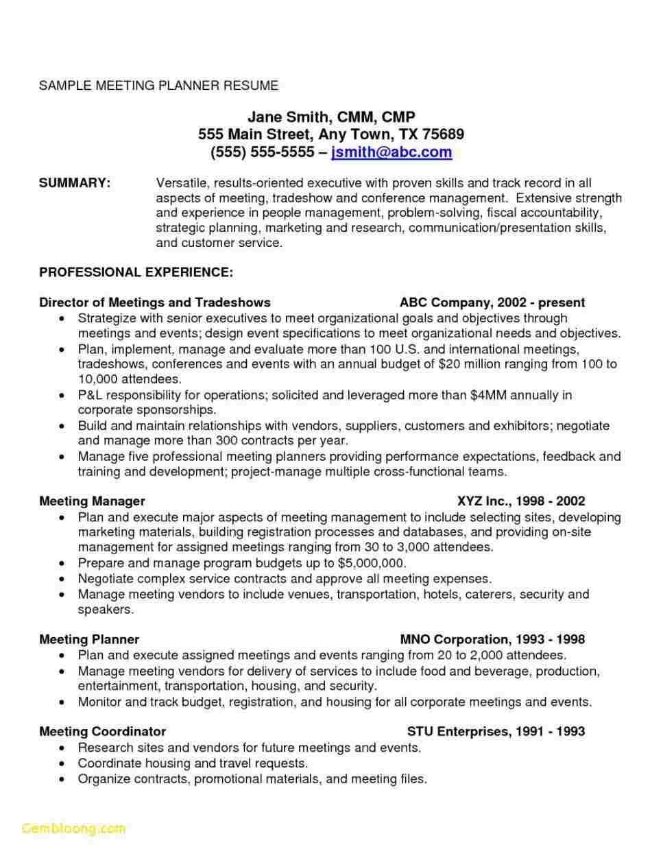 Sample Resume with Onsite Work Experience 65 Cool Collection Of Sample Resume Onsite Experience Meeting ...