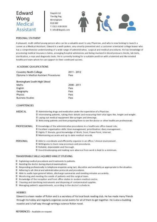 student entry level medical assistant resume template 1030