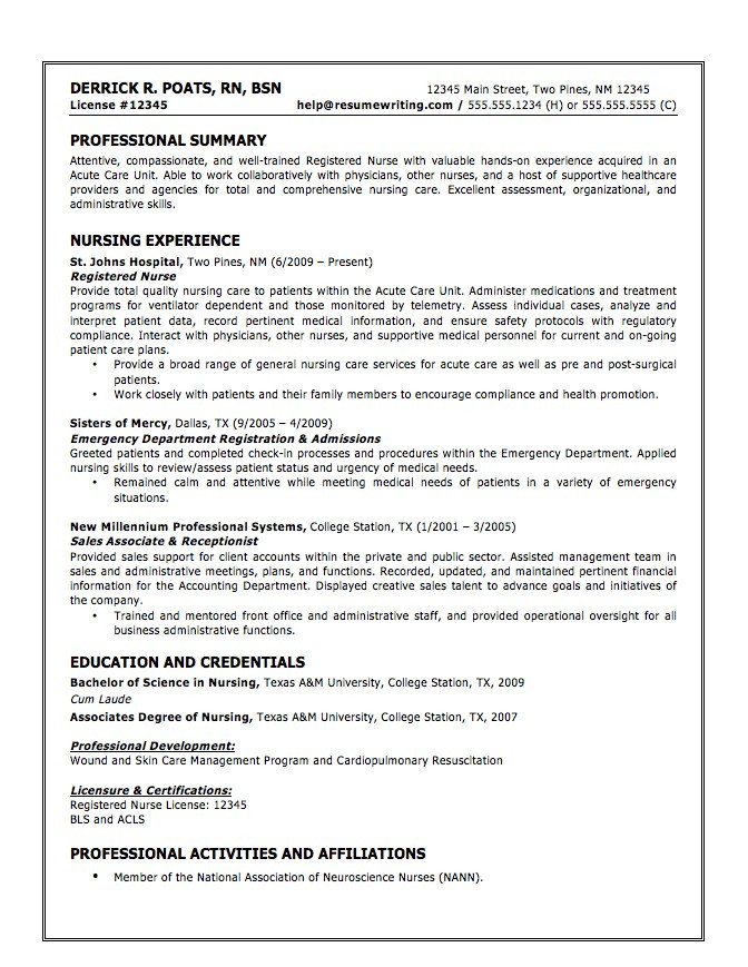 certified nursing assistant examples of cna resumes