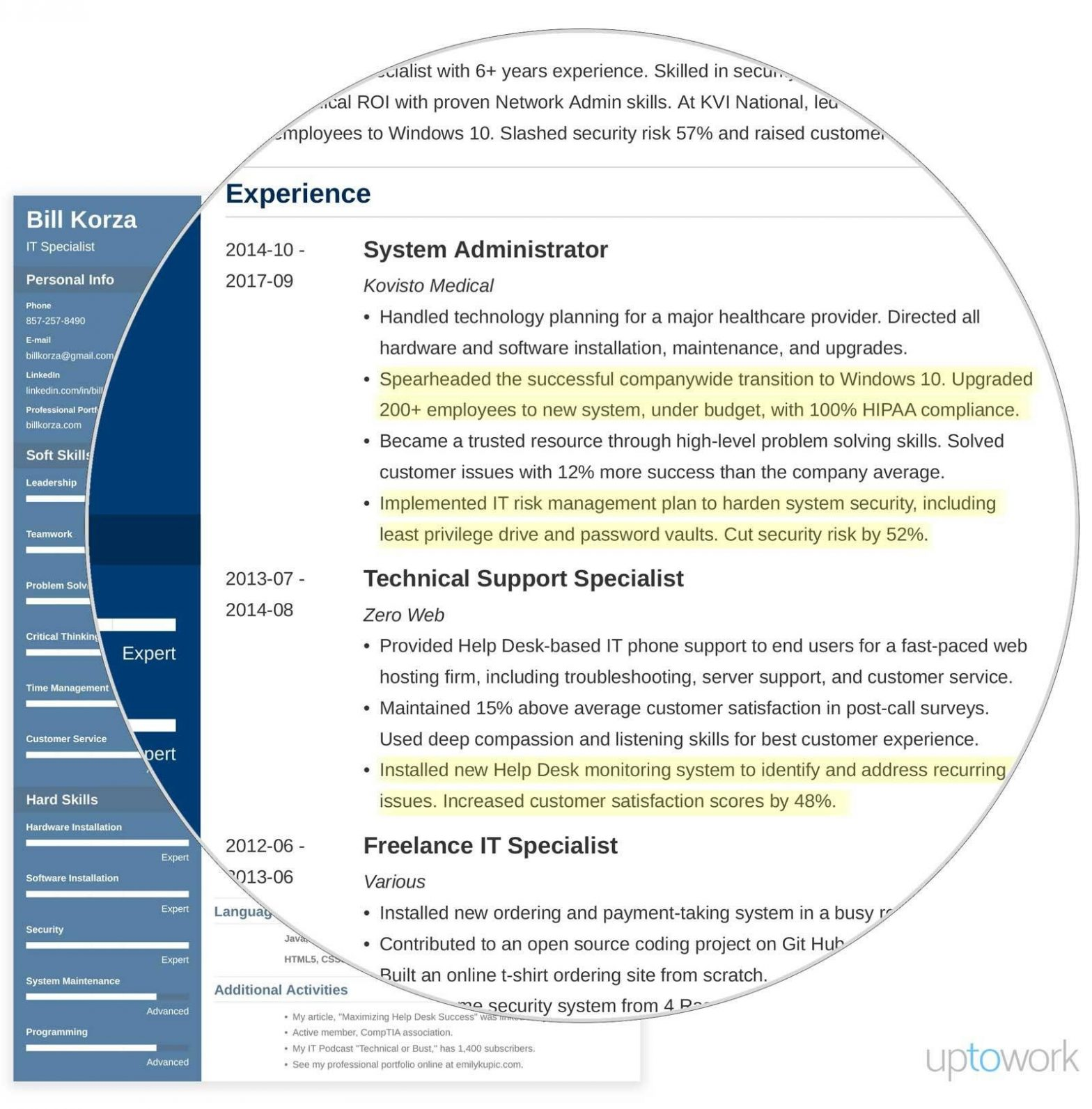 Sample Of Career Profile On Resume 19 Professional Resume Profile Examples & Section Template