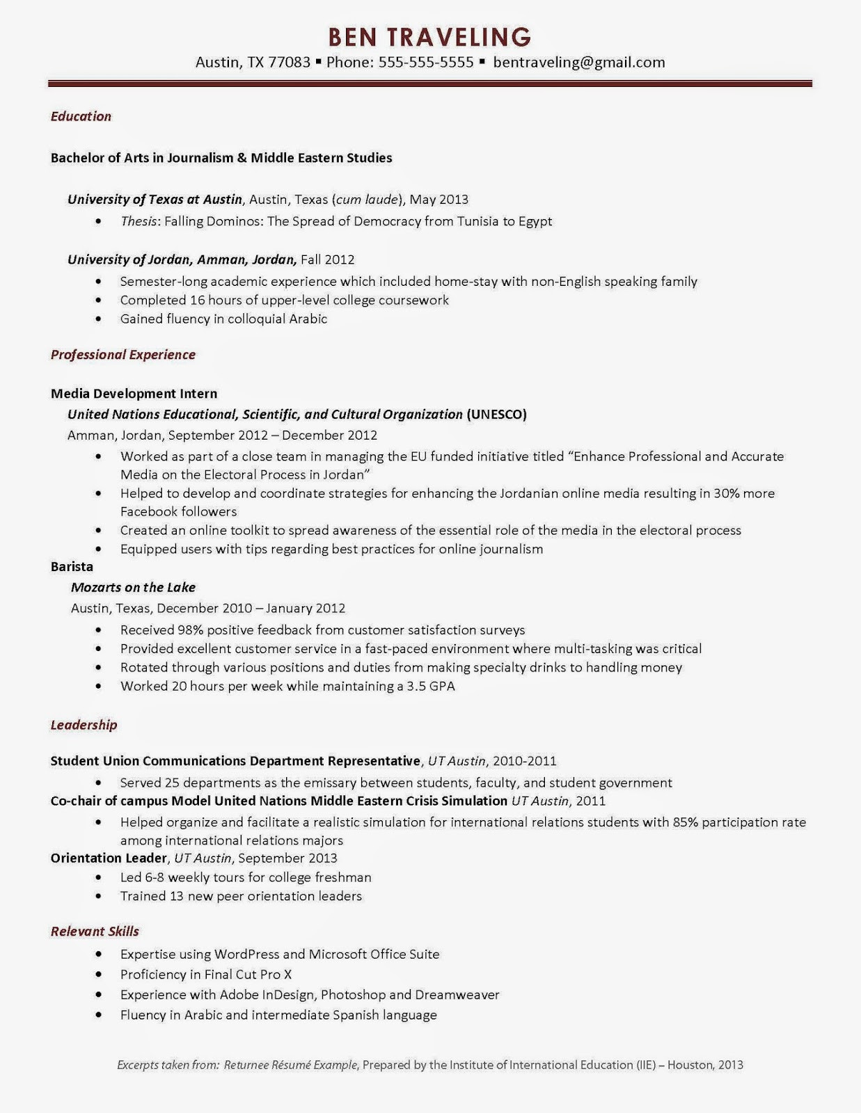 Sample Resume for Study Abroad Application University Of Arkansas Fice Of Study Abroad How Study