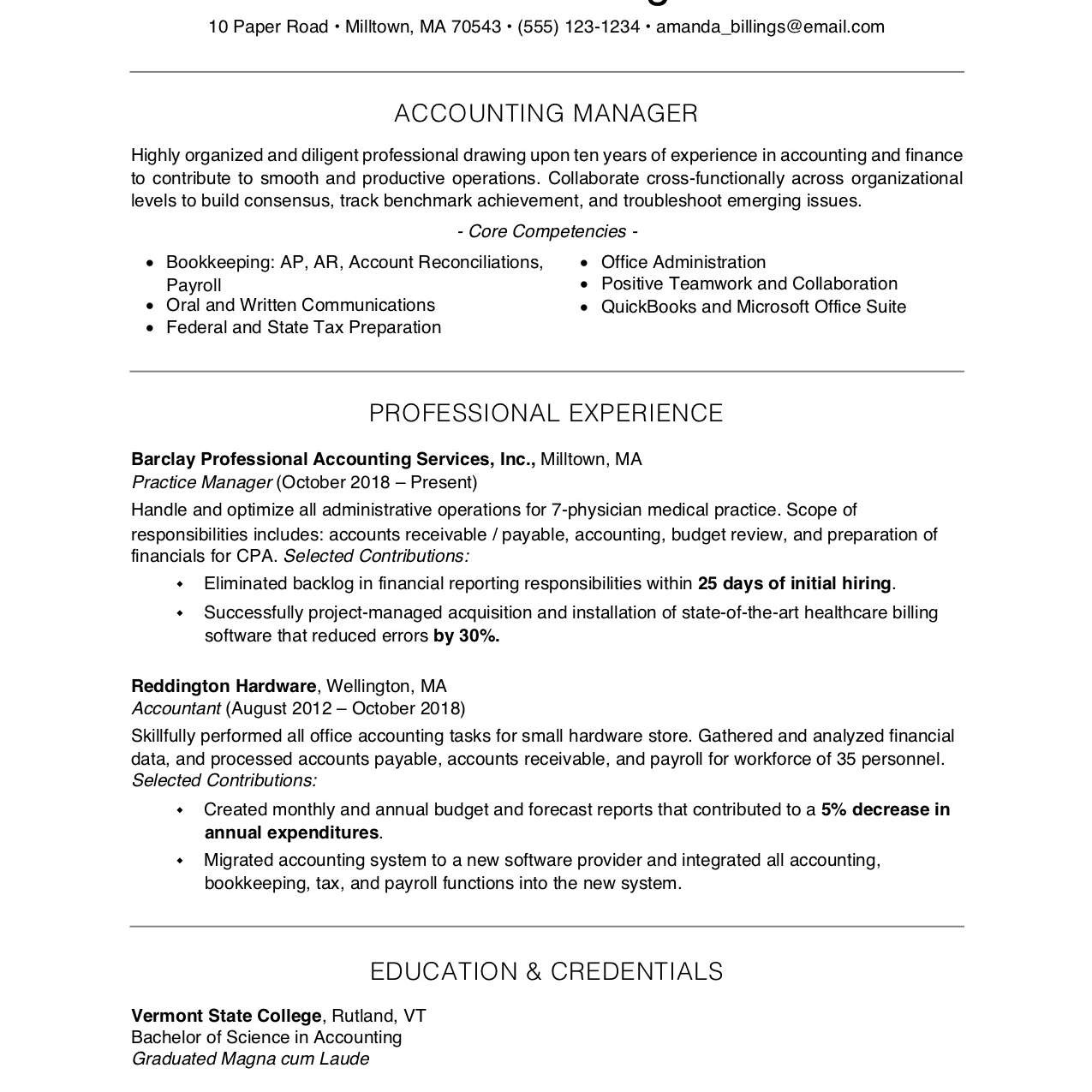 free resume examples and writing tips