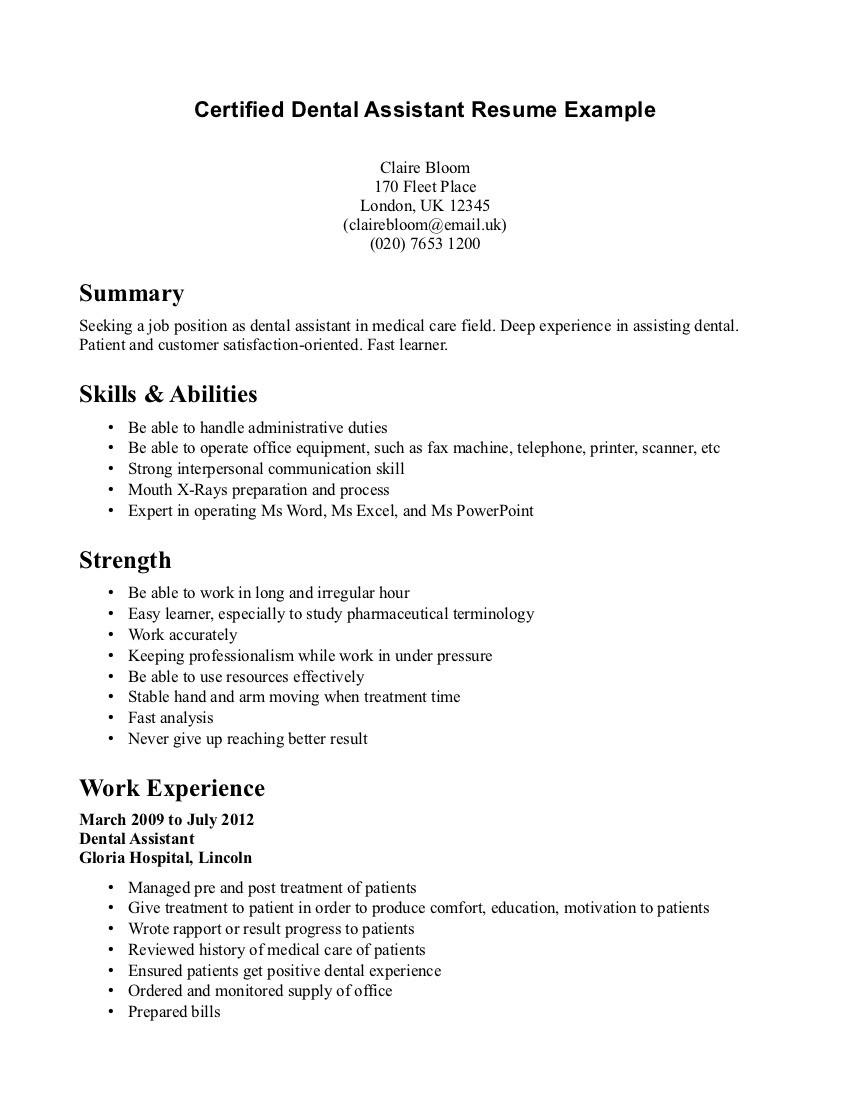 Sample Of Dental assistant Resume with No Experience Sample Resume for Dental assistant Student Loan - Tipss Und Vorlagen