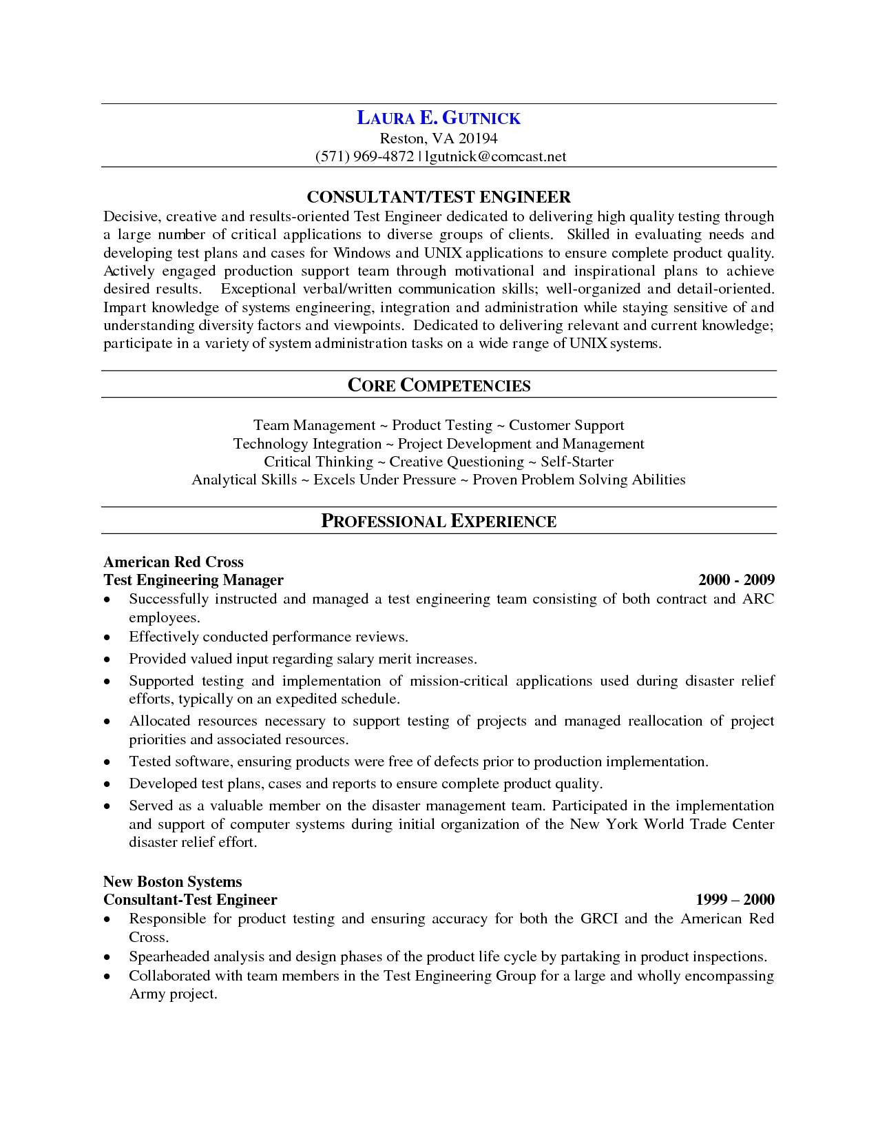 sample resume for software tester 2 years experience