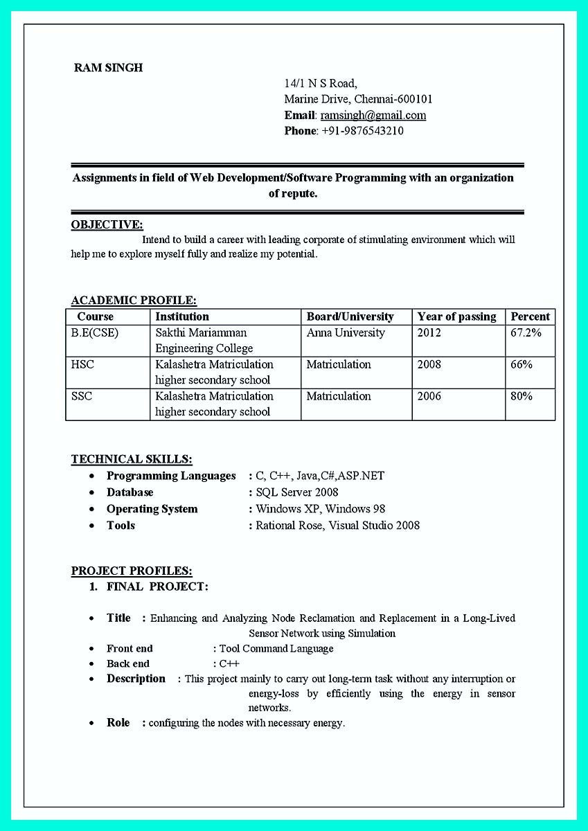 Sample Resume for Freshers Engineers Computer Science Pdf Awesome Computer Programmer Resume Examples to Impress Employers ...