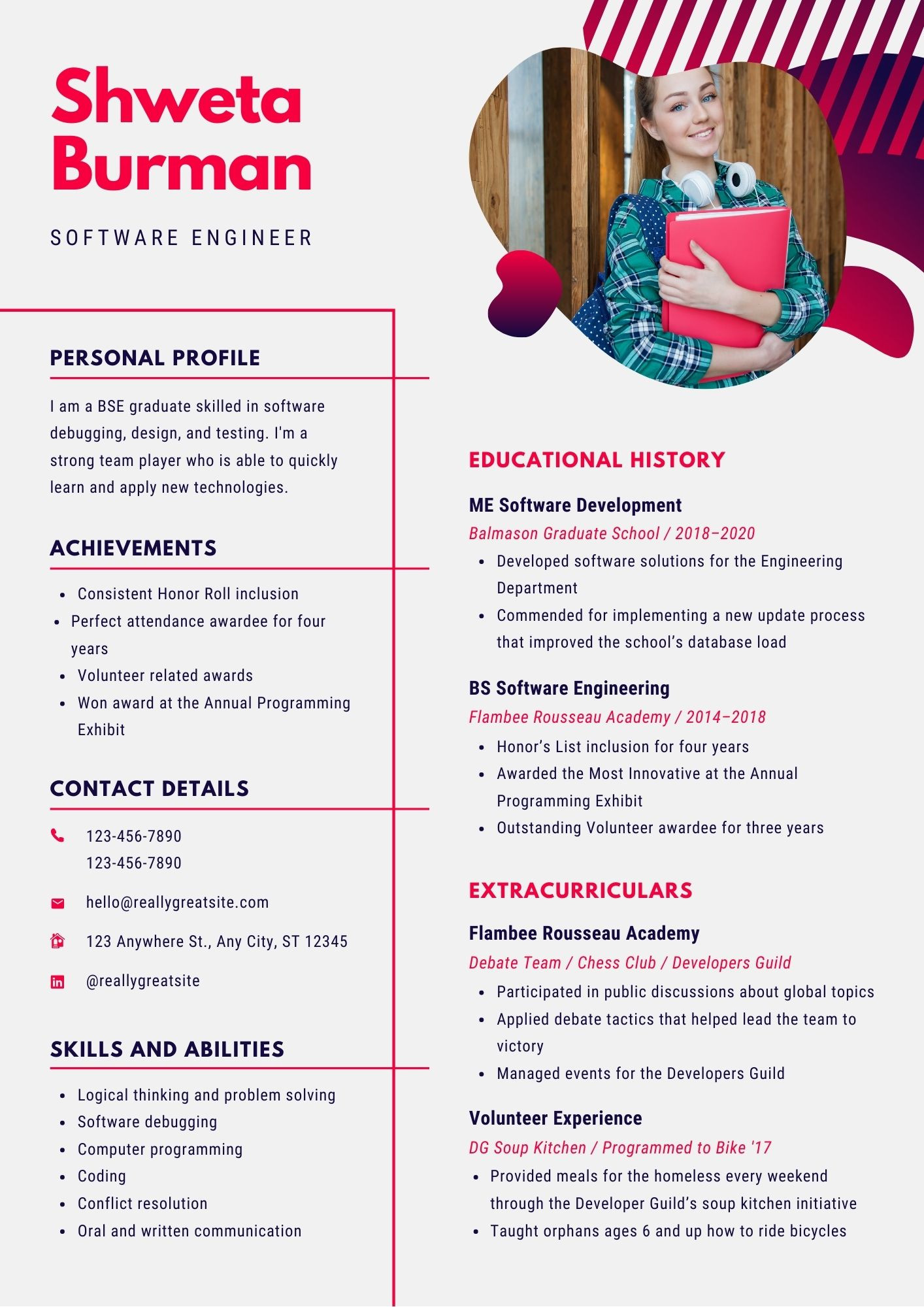 software developer resume samples