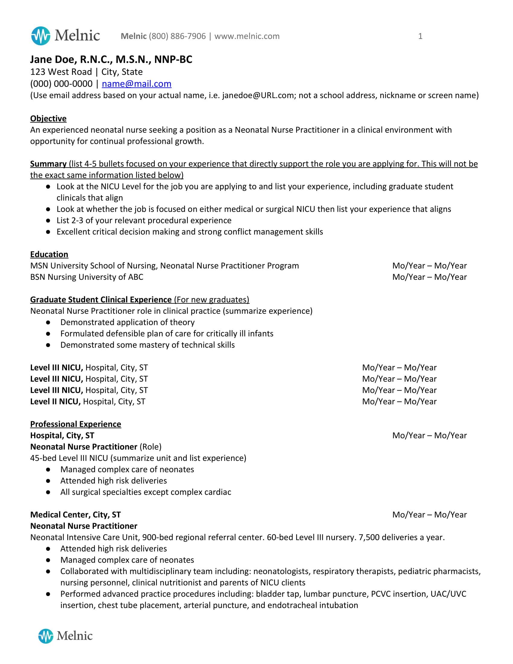 staf nurse resume format docml