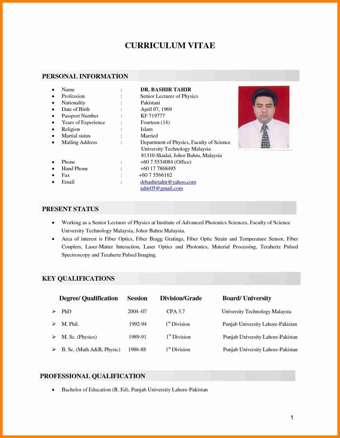 resume format for bsc graduateml