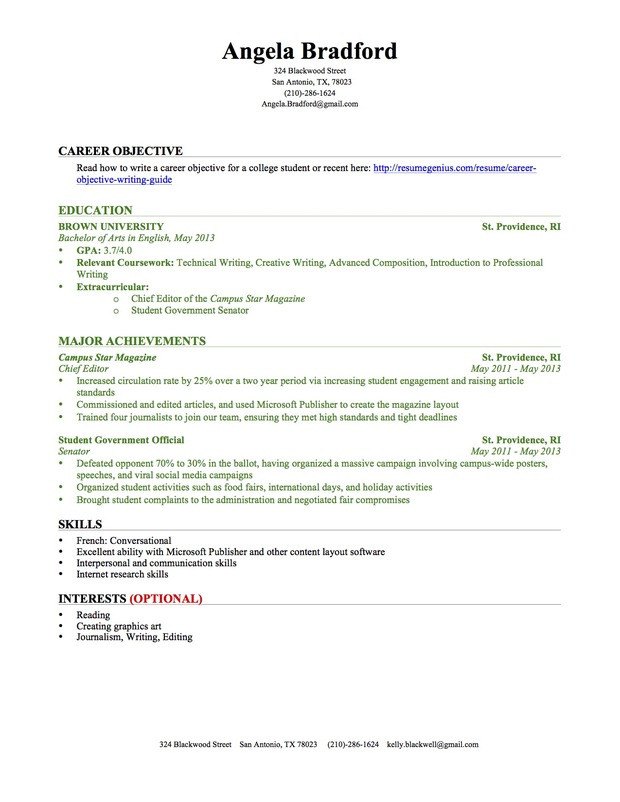 education section resume guide