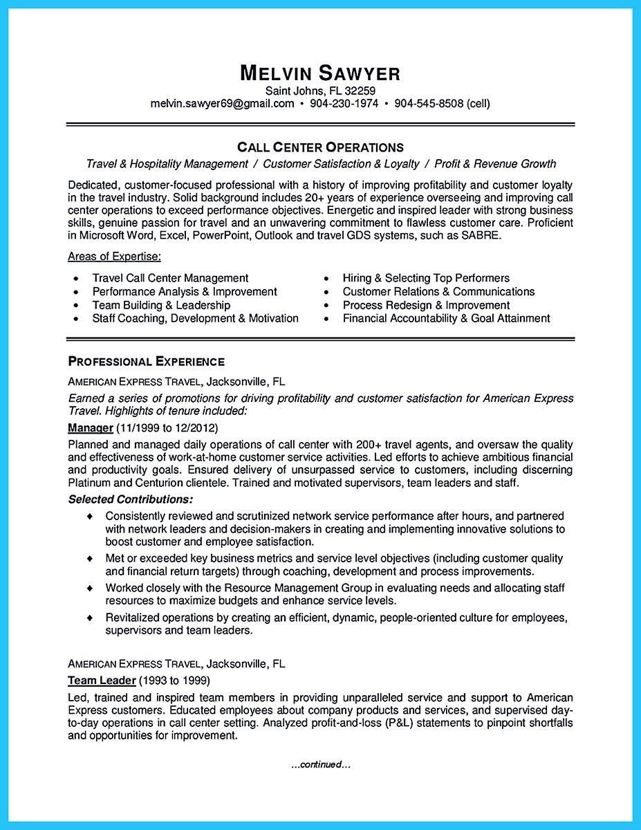 sample call center team leader resume