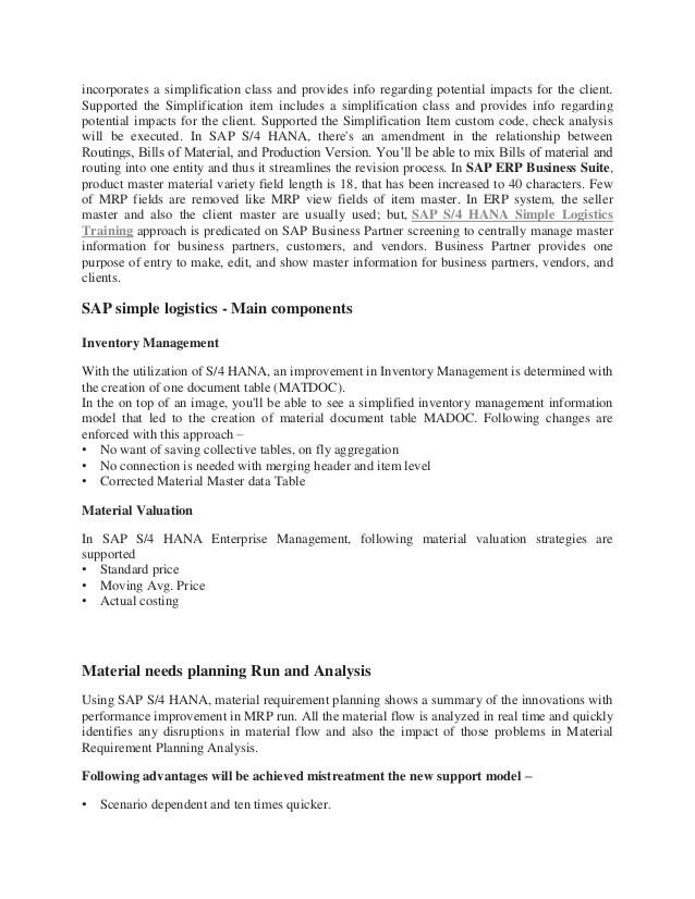 sap s4 hana simple logistics pdf
