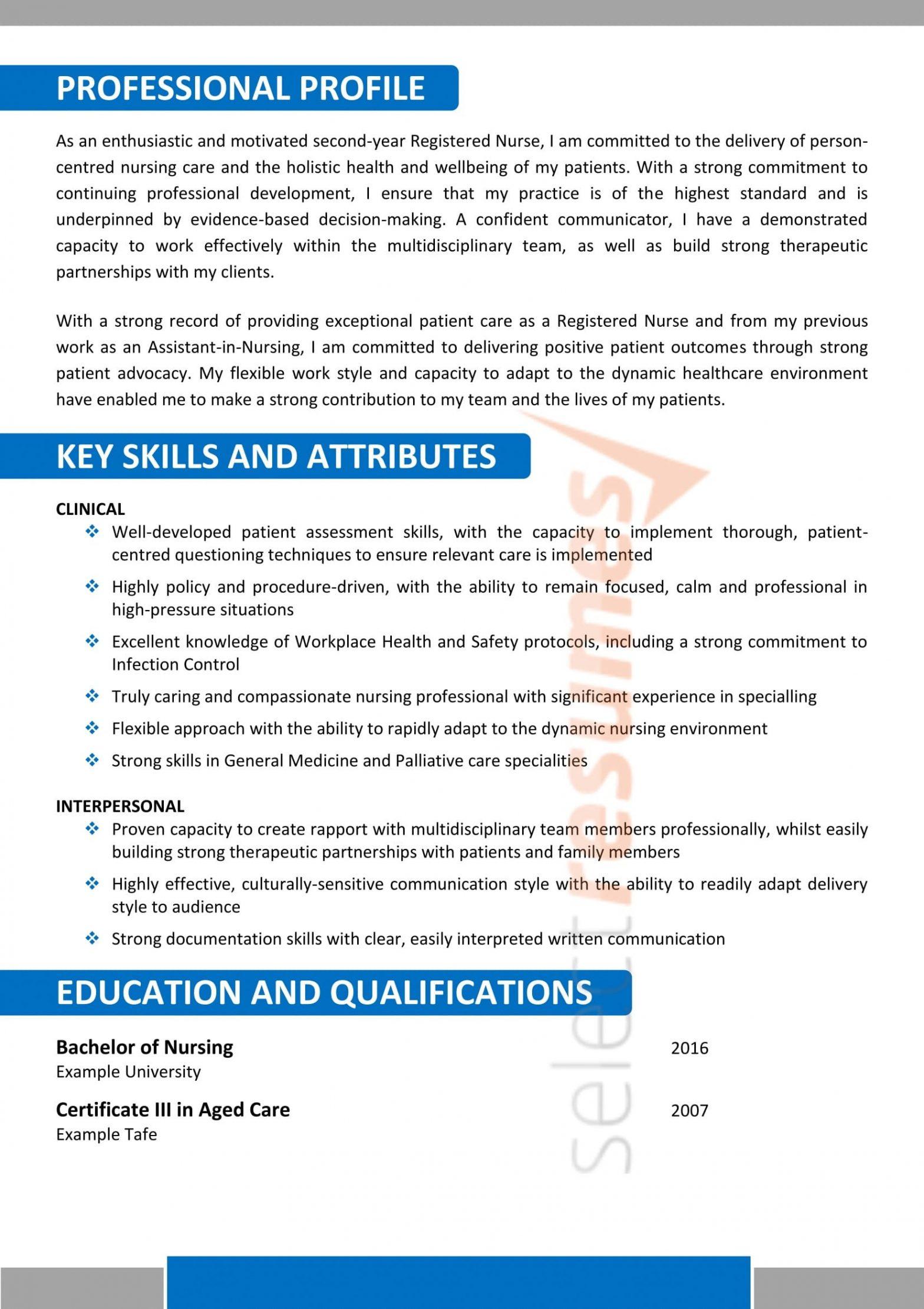 Aged Care Registered Nurse Resume Sample Nursing Age Care Design 183 Select Resumes