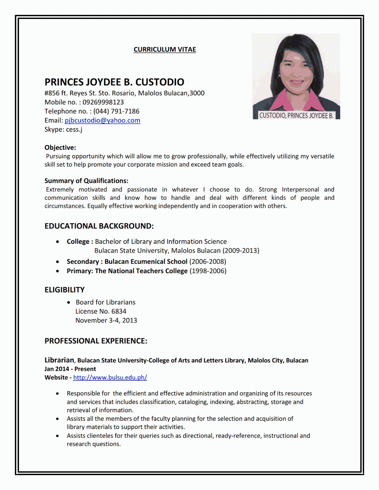 Applying for First Job Resume Samples Resume Sample First Job with Images