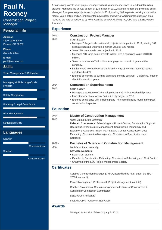 Construction Management Resume Examples and Samples Construction Project Manager Resume—sample and 25lancarrezekiq Tips