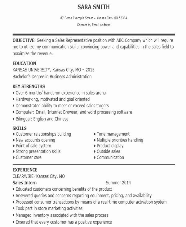 entry level sales associate resume