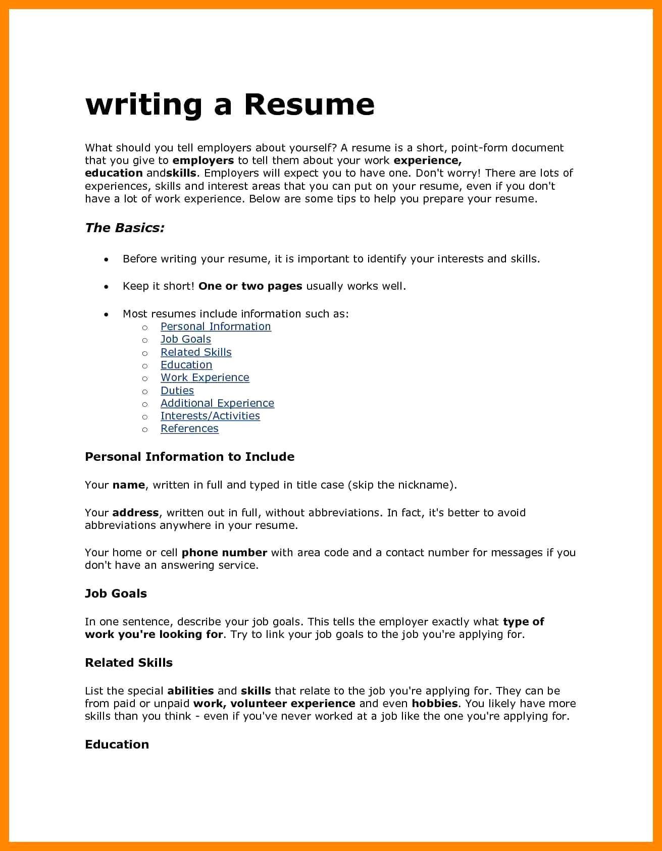 interest in resume sample