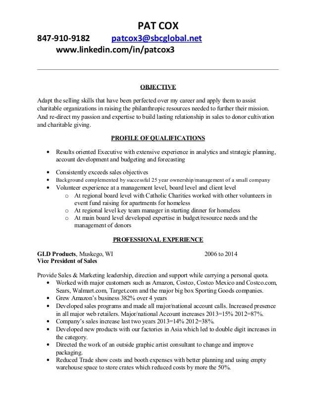 development resume p cox