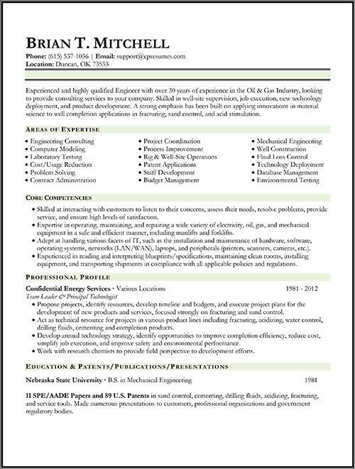 Oil and Gas Project Engineer Resume Sample Oil & Gas Engineer Resume Sample