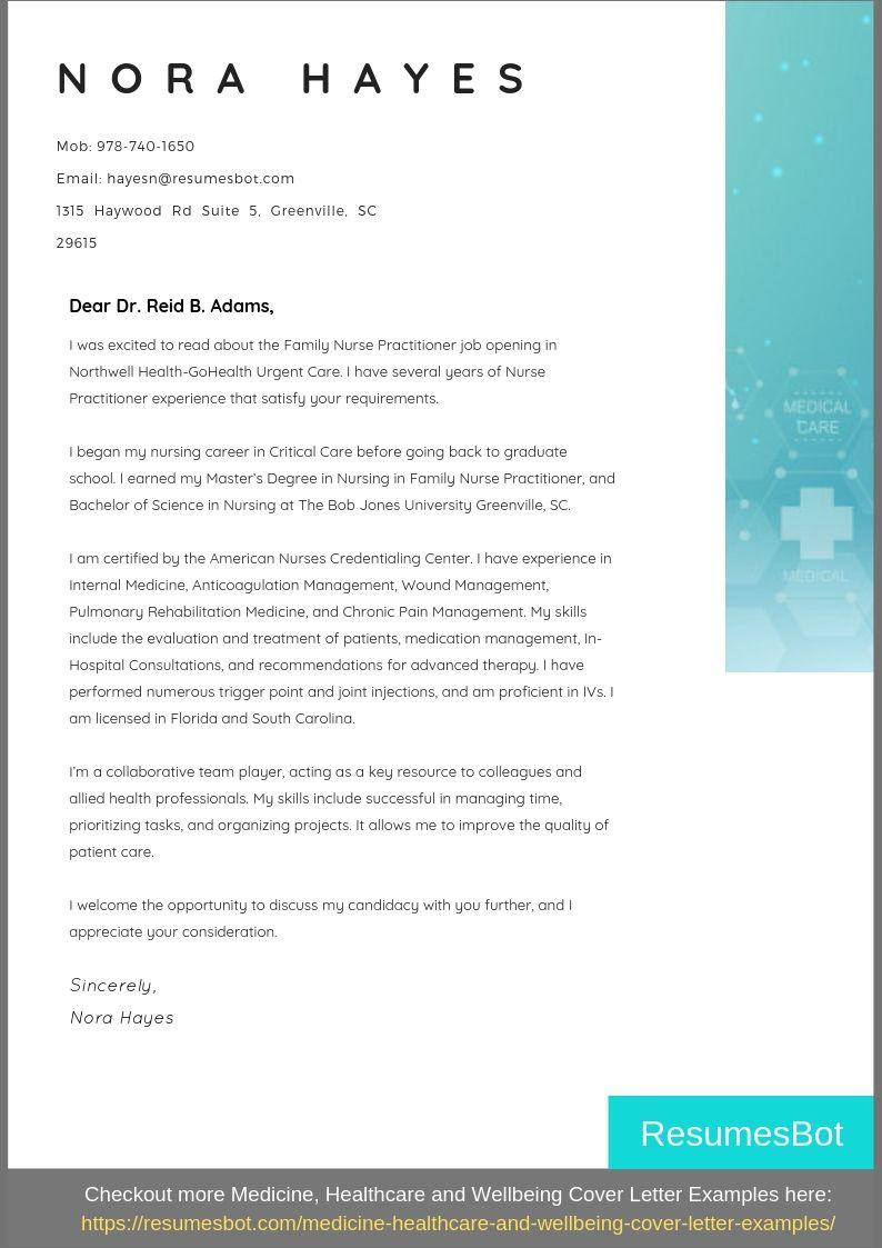 Resume Cover Letter Sample for Nurse Practitioner Position Nurse Practitioner Cover Letter Samples & Templates [pdflancarrezekiqword ...