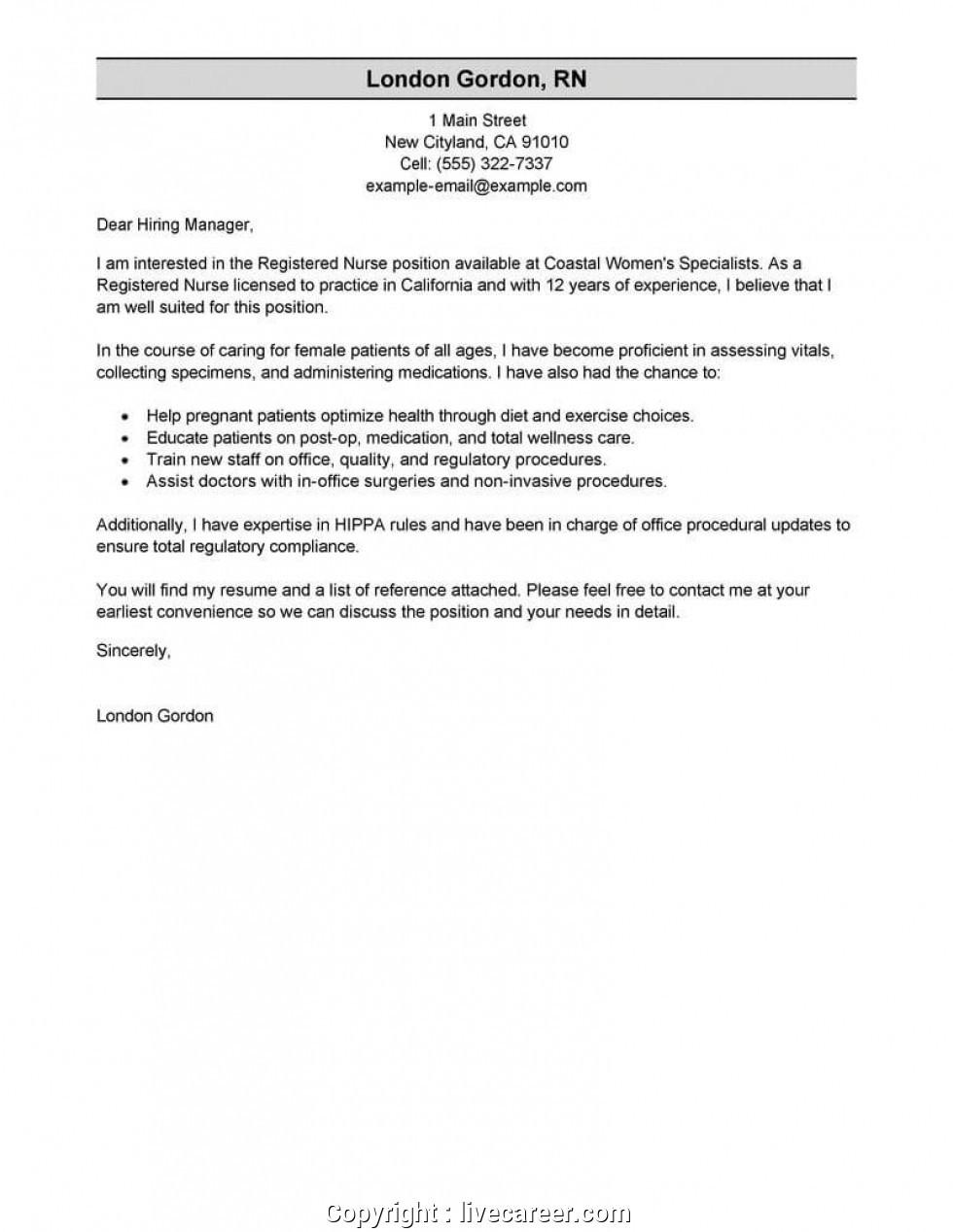 top nursing resume cover letter