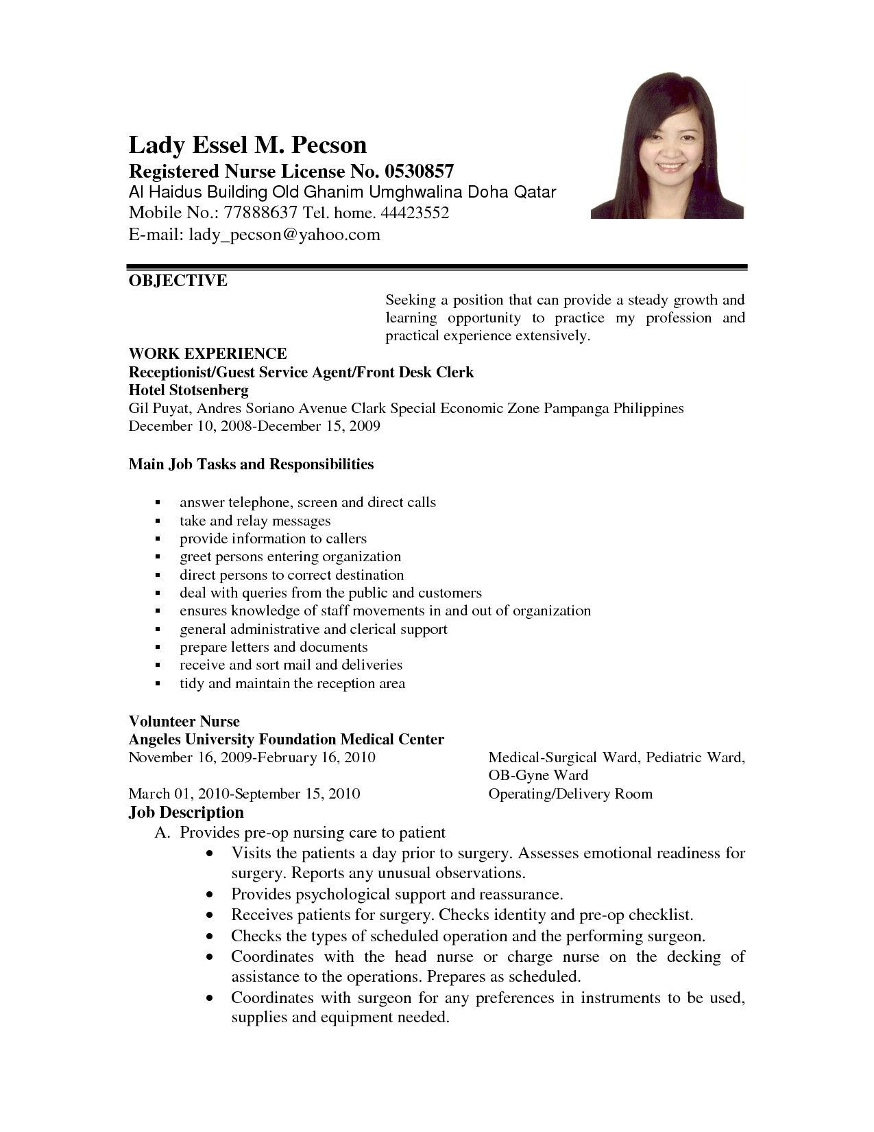 Sample Objective for Resume for Any Job Career Objective Resume Examples Awesome Example Applying for Job ...