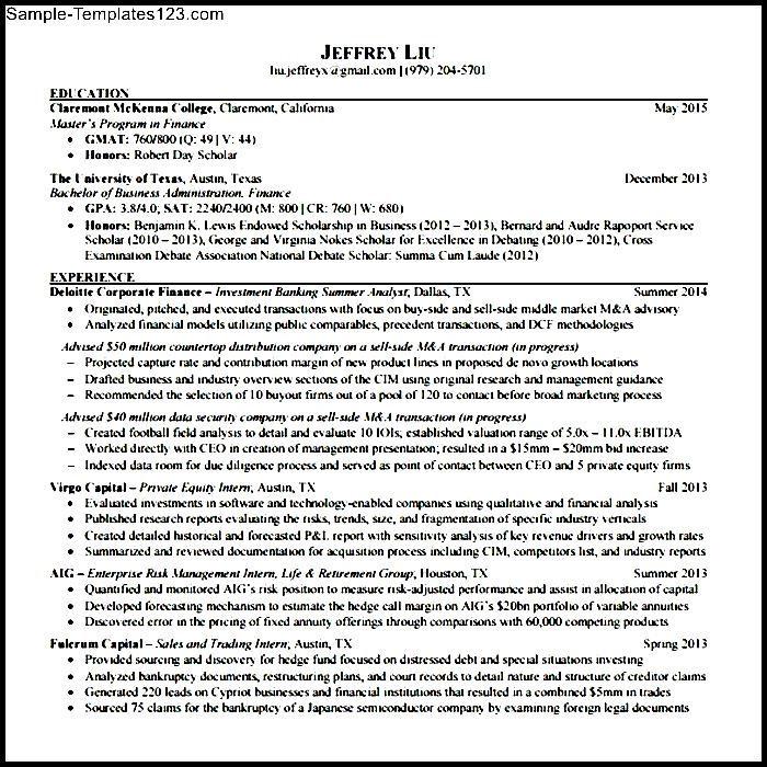 banking resume template pdf