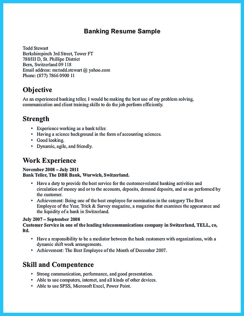 Sample Resume for Bank Jobs Pdf E Of Re Mended Banking Resume Examples to Learn