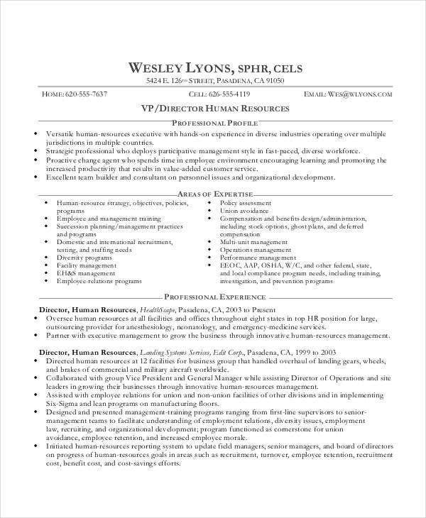 best executive resume