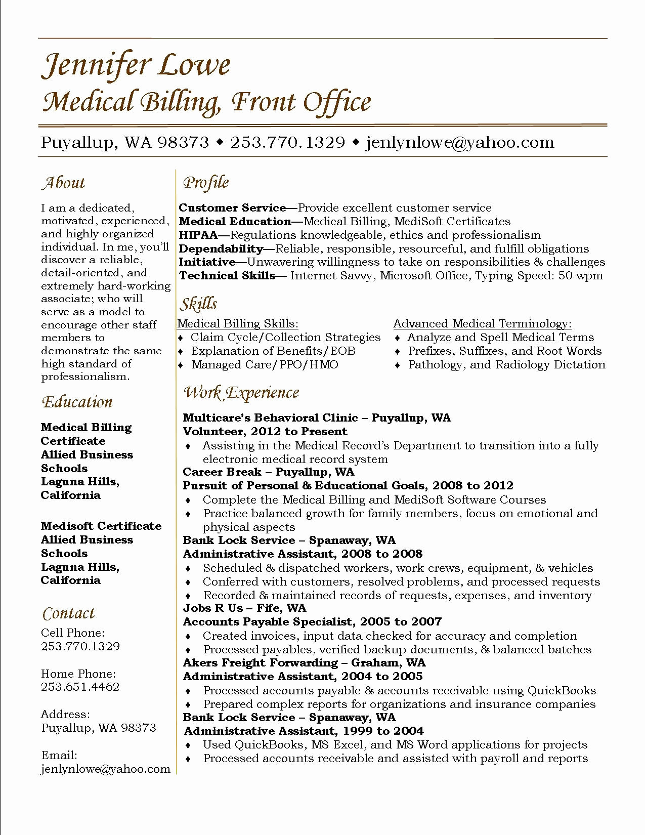 17 medical billing and coding resume sample cprojects
