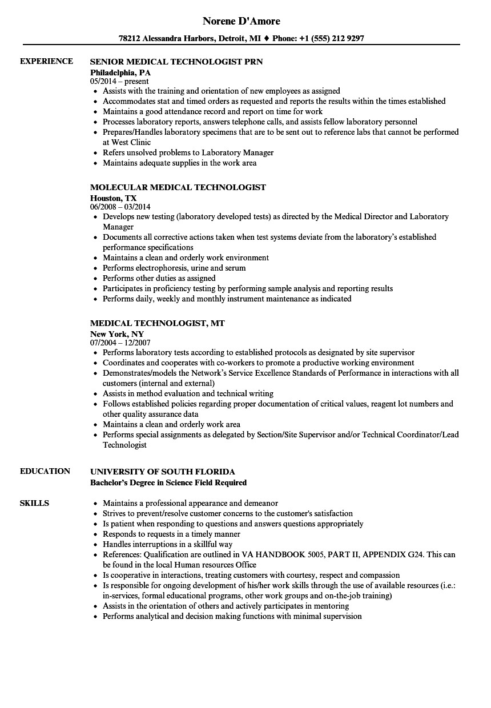 nuclear medicine technologist resume