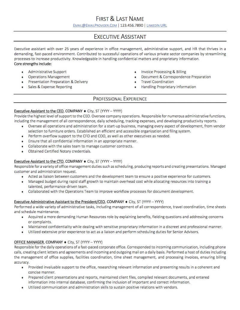 Sample Resume for Office Administration Job Office Administrative assistant Resume Sample Professional ...