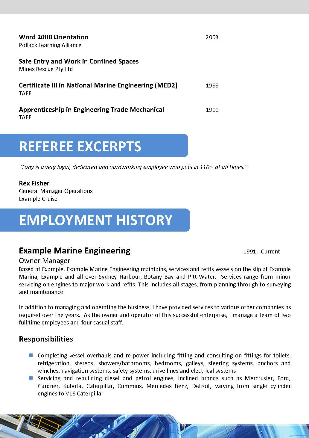 oil and gas resume template 063ml