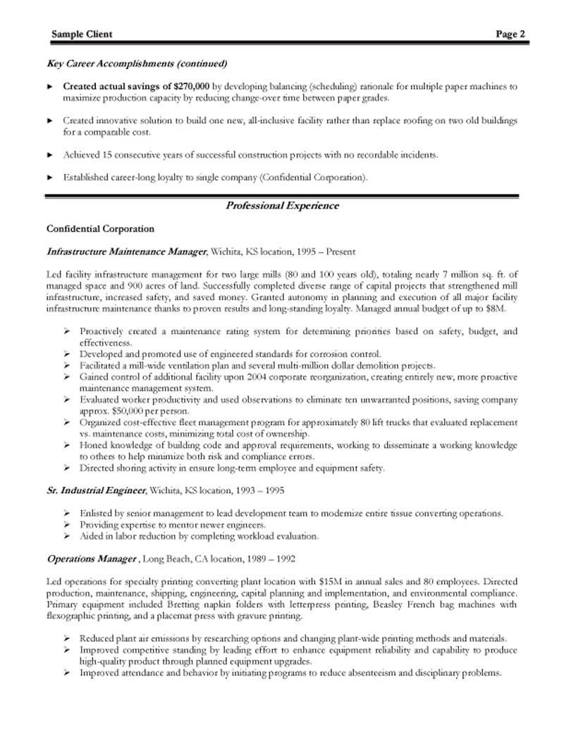 manufacturing production manager resumeml