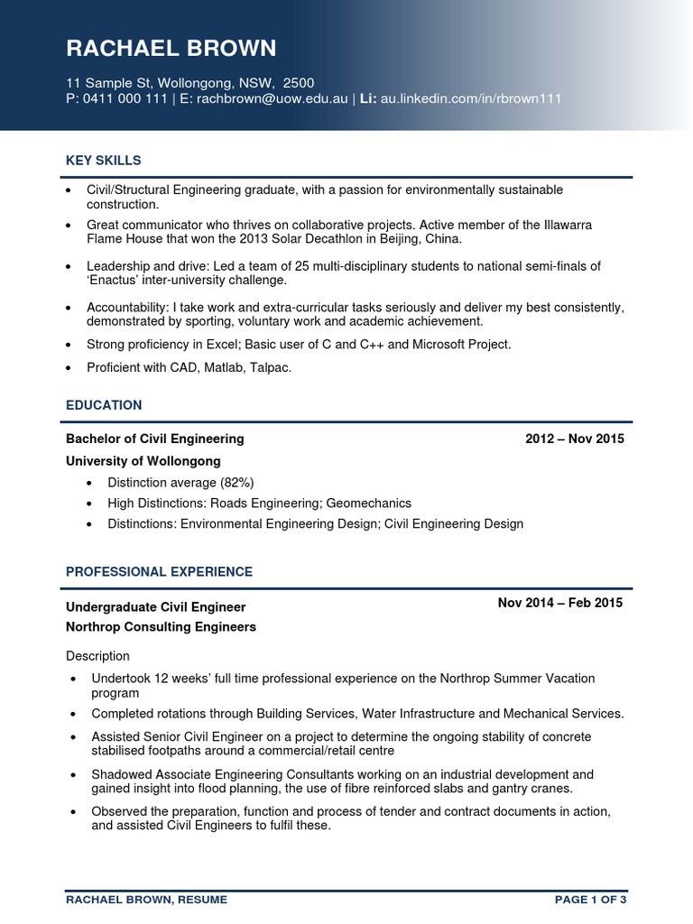 Senior Civil Engineer Resume pdf