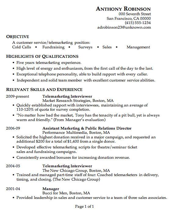 Sample Resume for Telemarketing Customer Service Resume Sample Customer Service Telemarketing