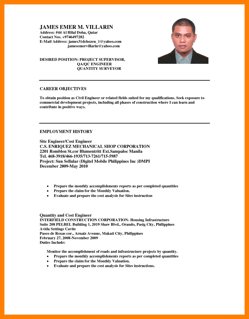 examples of objectives for resumes resume sample for ojt tourism students objectives in examples of career objective general samples fresh