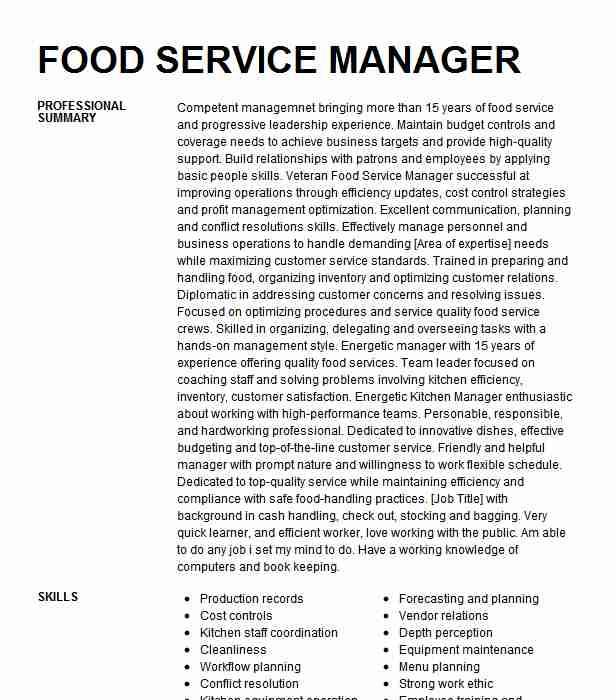 school food service manager d92d6f2475ed431c864c5cd8c457a25e