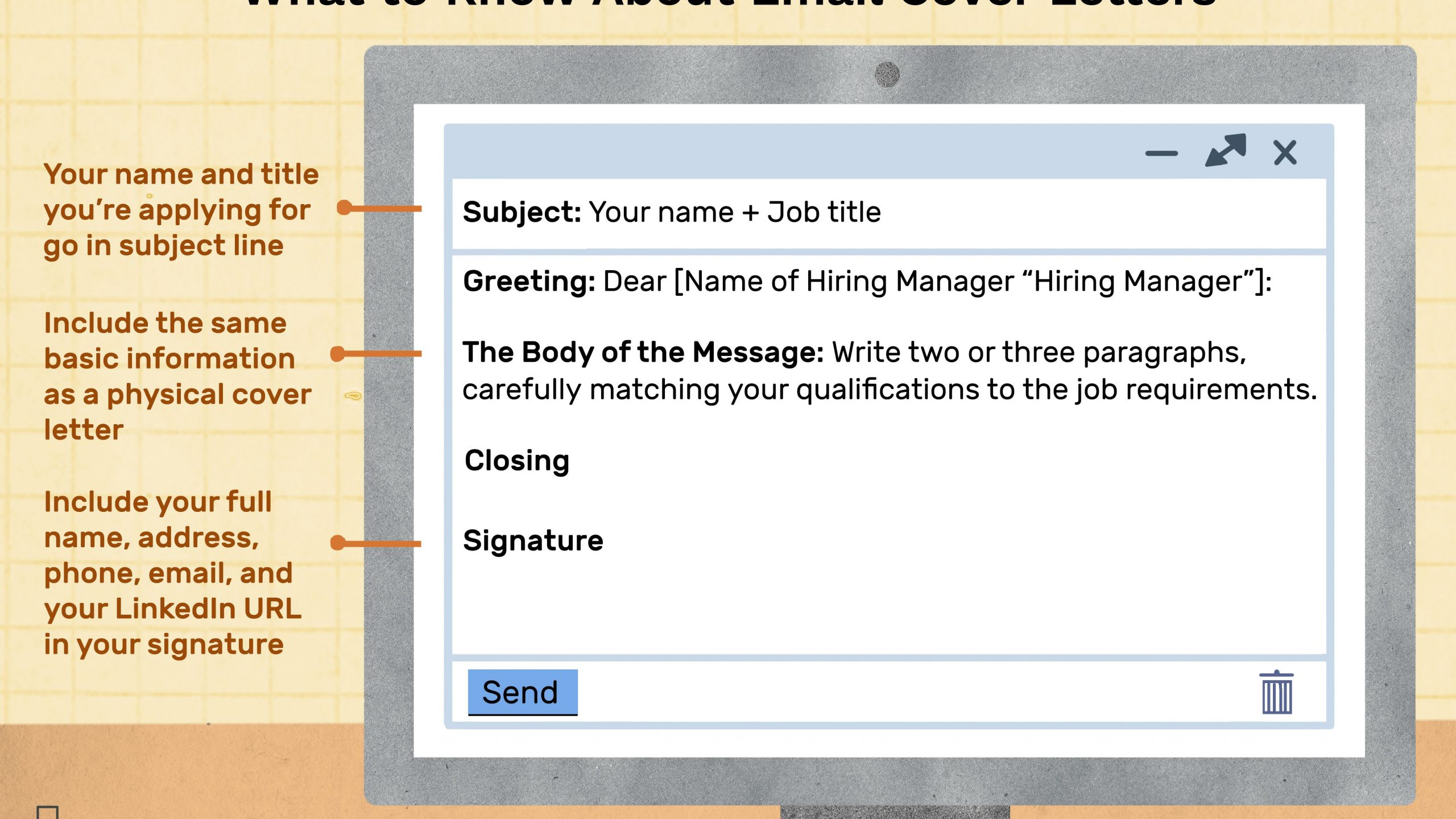 how to write mail to hr for new job
