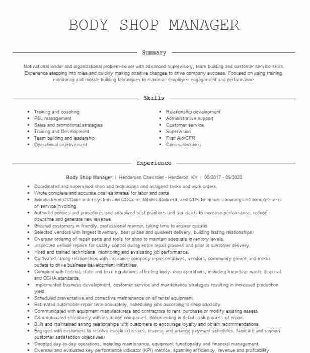 body shop manager fa754f7aaecbe708fd b