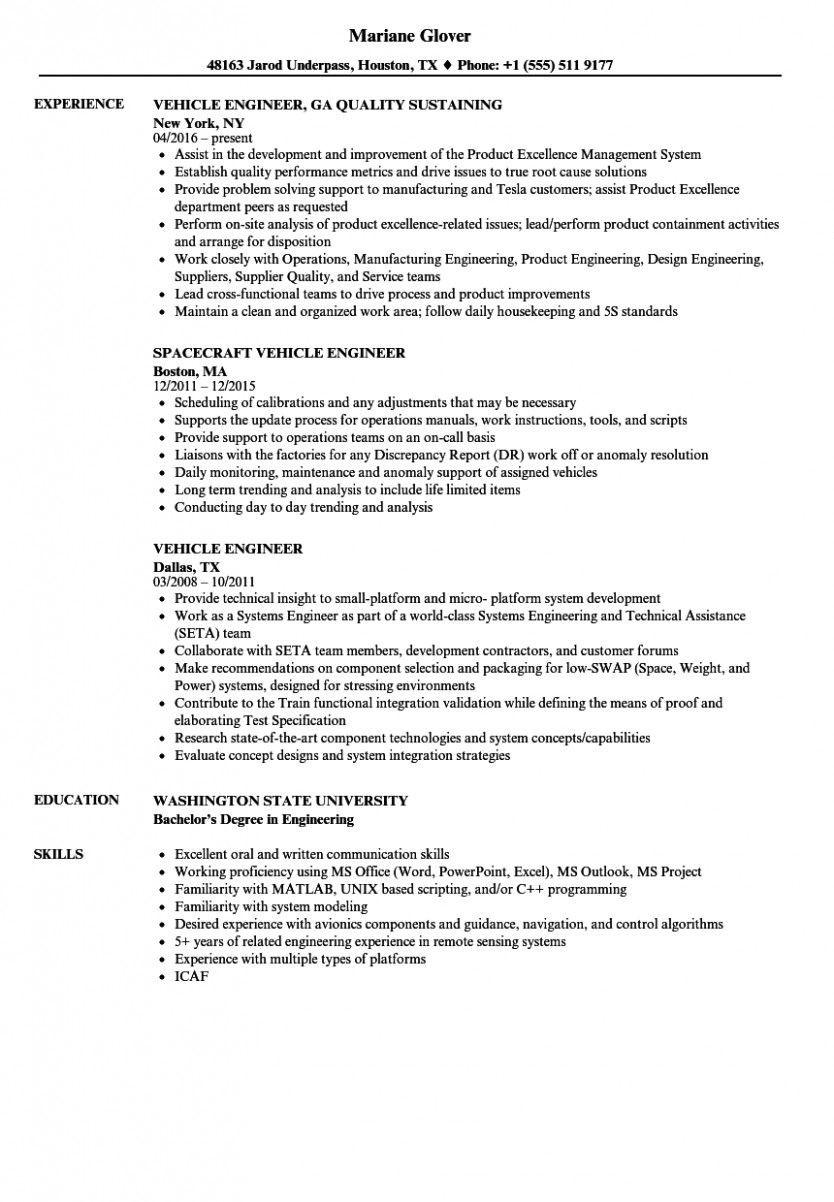 Automobile Service Engineer Resume Sample Pdf Automobile Service Engineer Resume Sample Pdf Best