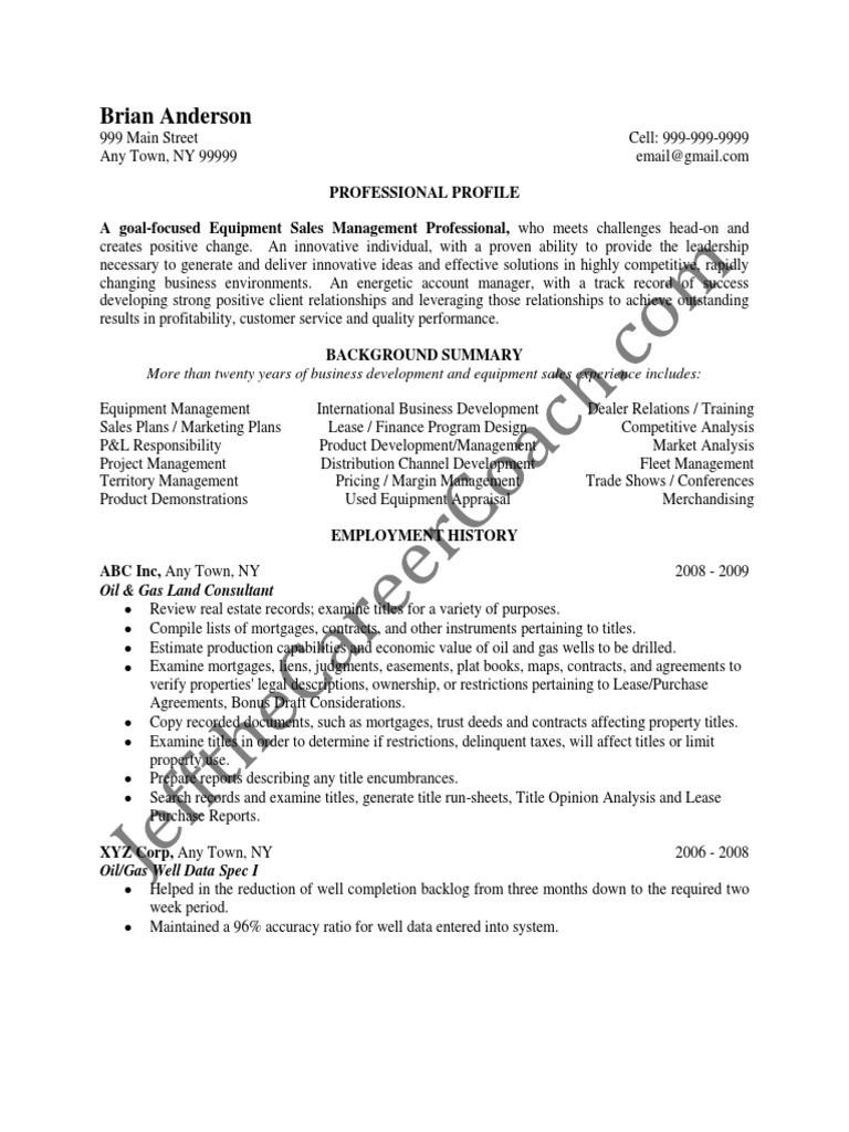 Oil Gas Sample Resume 2 pdf