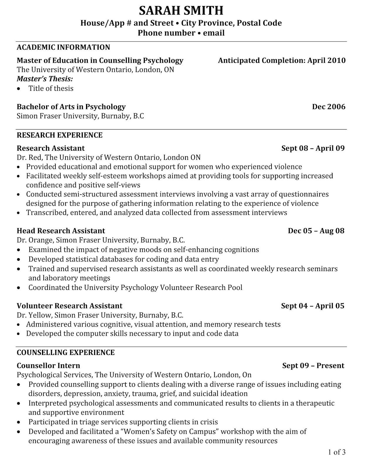 Resume for Masters Application Sample Pdf Academic Resume Sample, Academic Resume Sample Pdf, Academic ...
