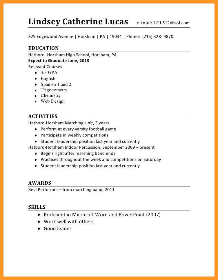 Sample Resume for A First Time Job 12 13 Resume Sample for First Time Job Seeker