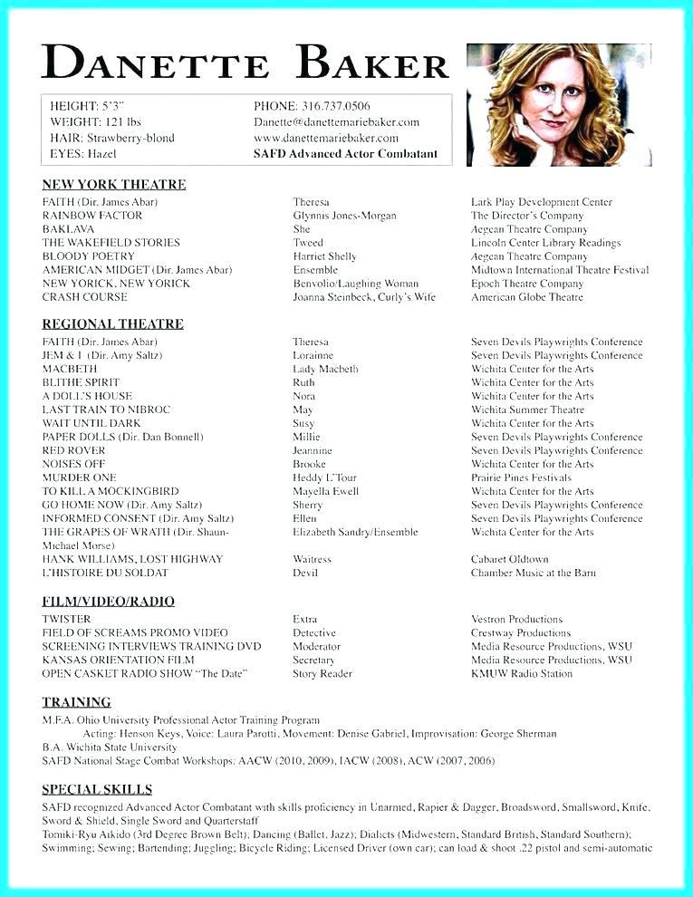 9 10 sample child actor resume