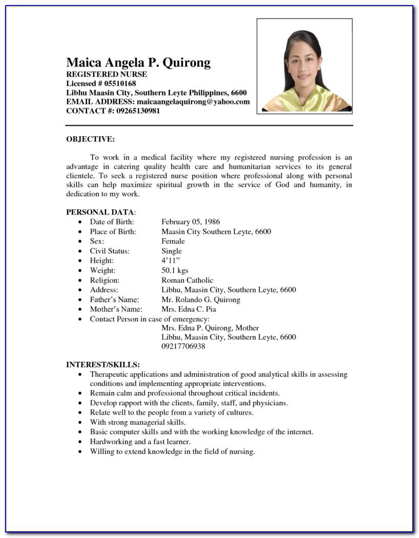 sample resume of philipinesml