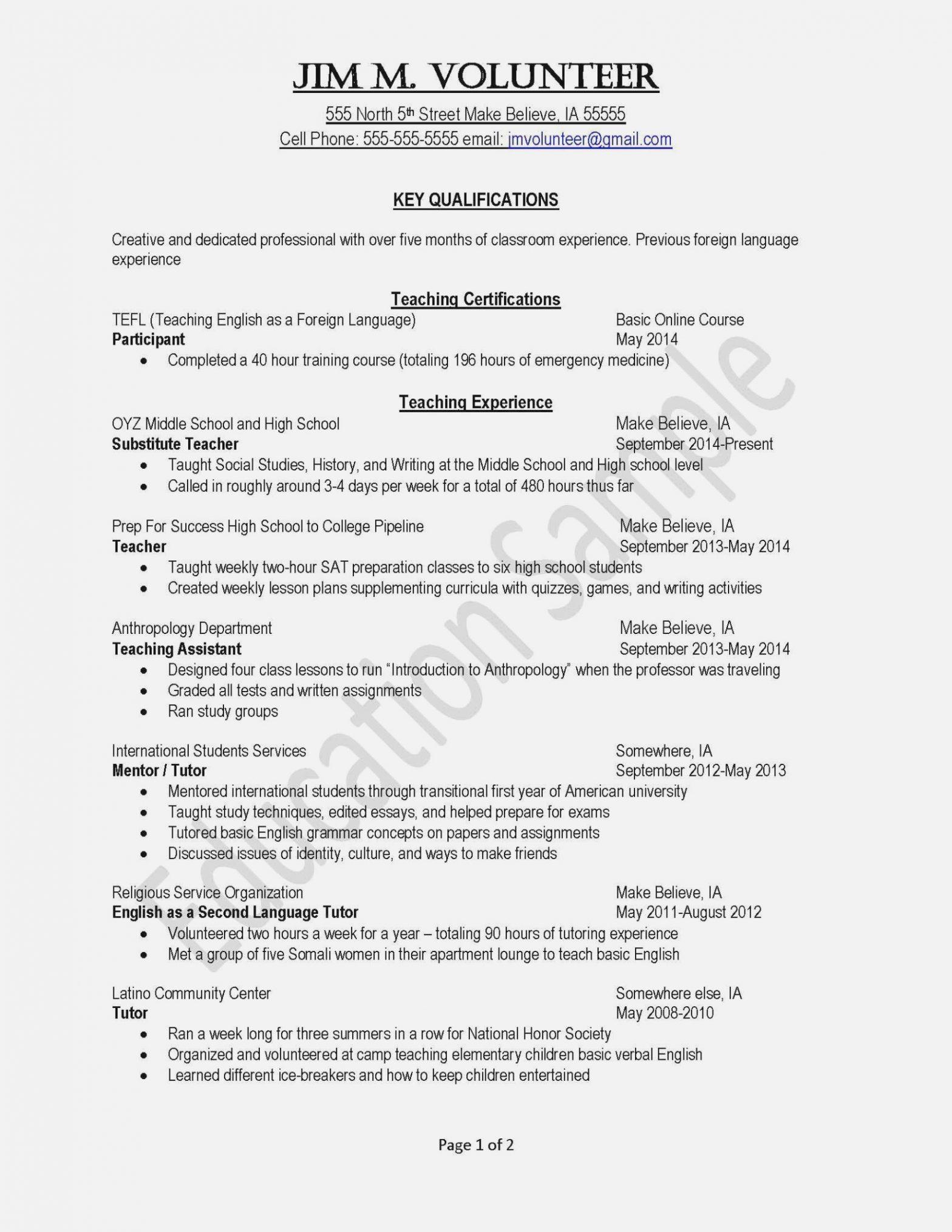 Sample Resume for National Honor society Application National Honor society Resume