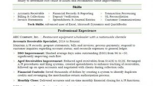 Accounts Payable and Receivable Resume Sample Accounts Receivable Resume Sample
