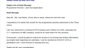 After Resume Follow Up Email Samples Free 5 Sample Follow Up Emails In Pdf