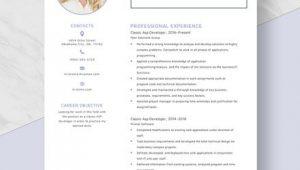 Asp Net Developer Resume Sample Doc asp Net Developer Resume Template Word Doc